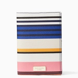 Kate Spade Striped Leather Passport Holder